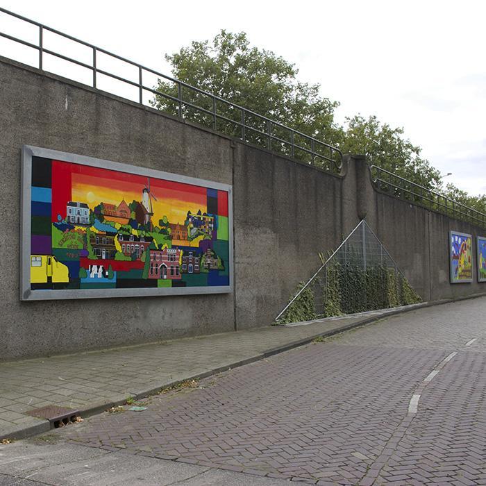 Opdrachten kunstenaar hans van mameren - Muur bibliotheek ...